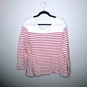 Old Navy Boatneck 3/4 Striped Plus Size Top 2X